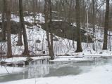 Rocky Hillside, Frozen Lake