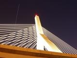 Satellite over the Zakim Bridge