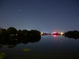 Iridium over the Mystic River