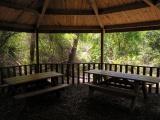 Benches under a Gazebo