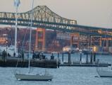 Tobin Bridge at Sunset